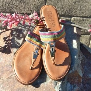 🚺Rainbow sandals Italian shoemakers